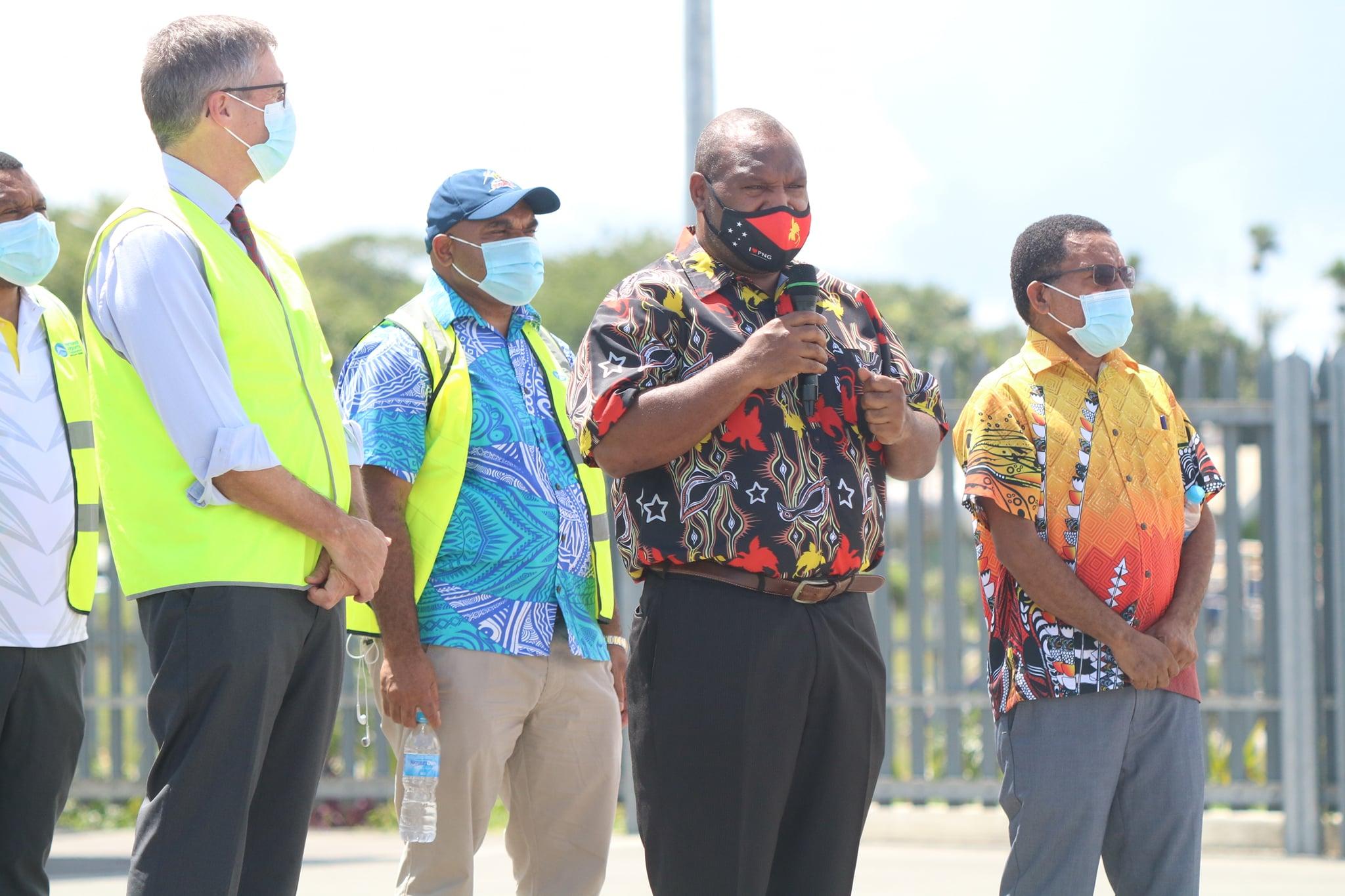 Prime Minister Marape sends off PNG Hunters
